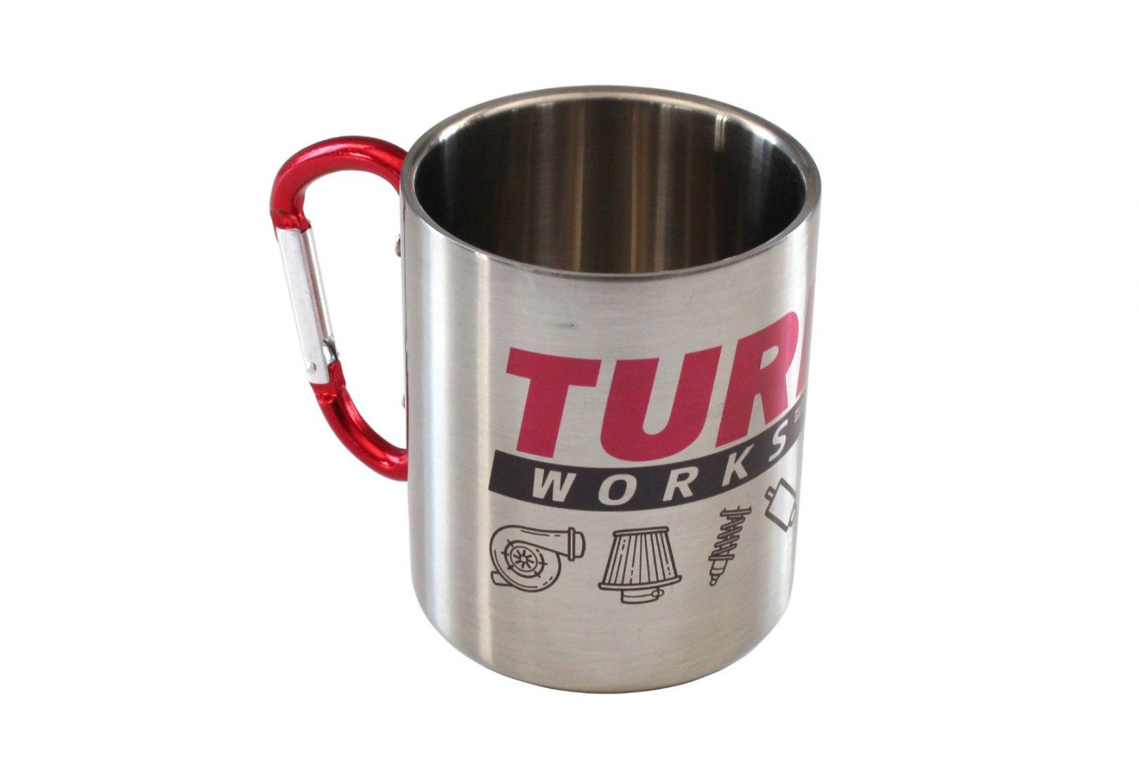Kubek metalowy 300ml Srebrny TurboWorks - GRUBYGARAGE - Sklep Tuningowy